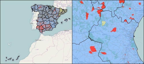 Mapa resultados elecciones Generales 2011 (X Legislatura Congreso y Senado)