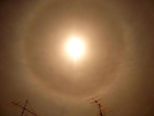Halo Lunar, visto la pasada noche desde Lérida - Imagen: Edgar Aldana