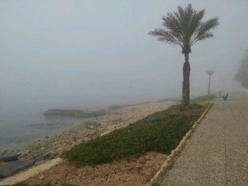 Nieblas matinales hoy en Santa Pola (Alicante) - Foto: CiclesGarma vía MeteOrihuela